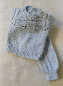 conjunto bebé 5 Embroidery On Kurtis, Kurti Embroidery Design, Crochet Baby, Knit Crochet, Tricot Baby, Knit Rug, Baby Jeans, Baby Pullover, Sweater Knitting Patterns