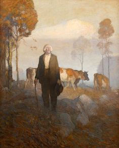 N.C. WYETH - He Turned And Faced The Rising Sun - Oil on Canvas 47.5″ x 38.25″