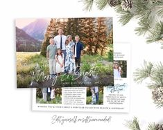 Spread some holiday cheer this season with a Year in Review Christmas Card Template. Your beautiful family photos will look perfect in this 5x7 Christmas card. You can quickly and easily edit your photo card! What a Year this has been, your friends and family will love to read about your 2020 Christmas Card Template, Christmas Photo Cards, Merry Christmas Card, Holiday Cards, Christmas Photos, Holiday Birth Announcement, Birth Announcement Template, Beautiful Family, Family Photos