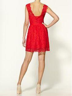 Madison Marcus Lace Mini Dress