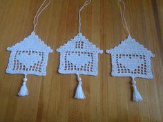 Crochet Wall Art, Crochet Home Decor, Crochet Crafts, Victorian Christmas Ornaments, Fillet Crochet, Christmas Crochet Patterns, Crochet Kitchen, Thread Crochet, Irish Crochet