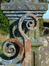 rusty iron swirls