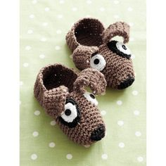 Crochet Puppy Slippers Warm Cozy House Children Shoes by KidzWorld
