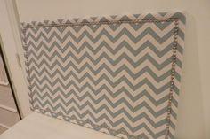 Fabric covered cork board