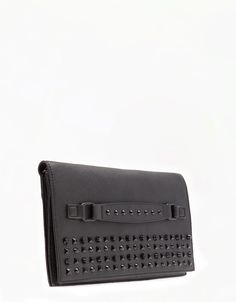 Bershka Turkey - Stud detail clutch portfolio bag