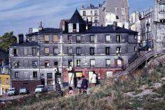 La rue Vilin, à l'emplacement du Parc de Belleville, en mai 1967 © Léon Claude Vénézia / Roger-Viollet #PEAV @Menilmuche