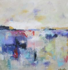 Abstract Landscape Original Acrylic Painting  by lindadonohue, $225.00