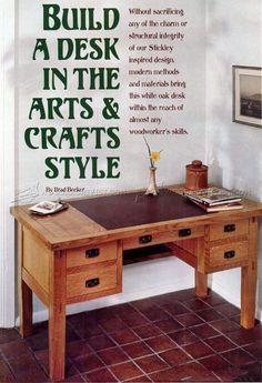 Arts and Crafts Desk Plans - Furniture Plans