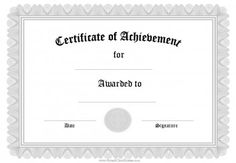 editabe free certificate of achievement templates business