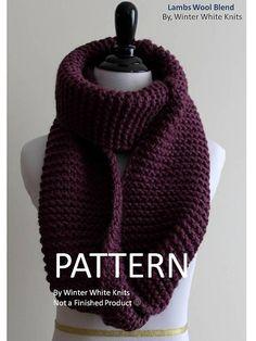 Pattern- knit scarf, PDF Instant Download Knitting Pattern, hand knit scarf  pattern, 9f3d4753a98