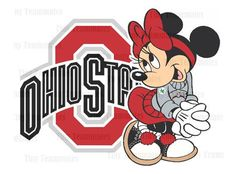 Minnie Loves the Ohio State Buckeyes - DIY PRINTABLES - New Design - Perfect for Iron on or Framed Print - Any team available upon request