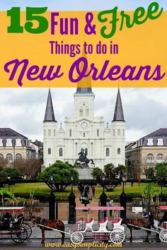 holiday trip Have a great New Orleans Vacation even if you're on a budget! Check out these 15 Fun & Free things to do in New Orleans and have a fantastic trip! New Orleans Vacation, Visit New Orleans, New Orleans Travel, New Orleans With Kids, New Orleans Bachelorette, New Orleans Garden District, New Orleans French Quarter, French Quarter Map, New Orleans Mardi Gras