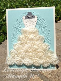 Dana Kent Independent Stampin' Up! Demonstrator  Elegant Rosette Wedding Gown Card