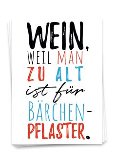 "Postkarte mit dem lustigen Spruch ""Wein, weil man zu alt ist für Bärchenpflaster in der Größe Din Mothers Day Funny Quotes, Madea Funny Quotes, Short Funny Quotes, Funny Quotes For Teens, Sister Quotes, Mom Quotes, Happy Quotes, Famous Quotes, Punjabi Funny Quotes"