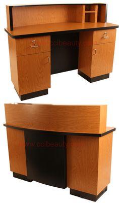 Reception Desk CC-8003CherryBirch #receptiondesk #frontdesk #salon #spa #dayspa #barbershop #barber