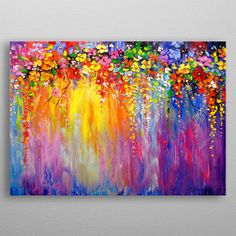Oil painting Flowers art klimt mother and child canvas large abstract canvas art large canvas art flower color painting Acrylic Painting Flowers, Acrylic Painting Canvas, Abstract Flowers, Easy Flower Painting, Flower Paintings On Canvas, Diy Painting, Easy Acrylic Paintings, Acrylic Painting Inspiration, Paint Flowers