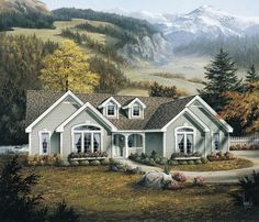 Eplans Cottage House Plan - Efficient and Charming Floor Plan - 1761 Square Feet and 4 Bedrooms from Eplans - House Plan Code HWEPL64354