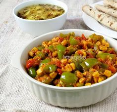how to make corn capsicum curry