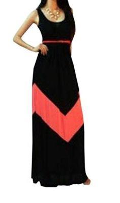 8e7dc03ed51 RH Women Bateau Neck Stripe Full Length Maxi Beach Dress Striped Vests