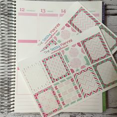 NEW! May Monthly Write-On Full Box Stickers for Erin Condren Life Planner/Plum Paper Planner - Set of 16