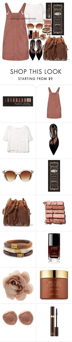 """Brown"" by fangirl-preferences ❤ liked on Polyvore featuring Forever 21, Topshop, MANGO, Steve Madden, Icon Eyewear, WALL, Diane Von Furstenberg, Bobbi Brown Cosmetics, Chico's and Chanel"