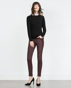 Fitted BIKER TROUSERS-View all-Woman-NEW IN | ZARA United States