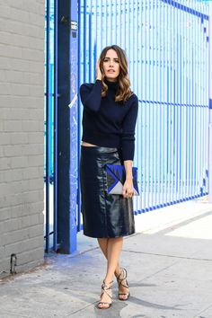 "Marks and Spencer Leather Pencil Skirt | ""My All-Weather Must-Have: The Pencil Skirt"" 