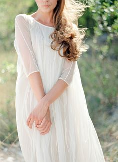Elfenkleid Bridal Editorial in Italy from Peaches and Modest Wedding Dresses, Bridal Dresses, Engagement Outfits, Little White Dresses, Ball Dresses, Playing Dress Up, Bridal Style, Wedding Bells, Spring Outfits
