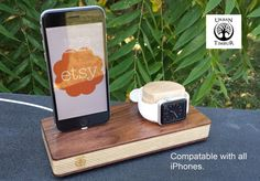 Wooden Apple Watch Stand Apple Watch Docking by UrbanTimbur
