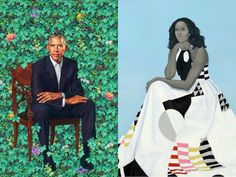 Official portraits of Barack and Michelle Obama were unveiled Monday. (Barack by Kehinde Wiley; Michelle by Amy Sherald; images courtesy the Smithsonian's National Portrait Gallery) Obama Presidential Portrait, Official Presidential Portraits, Michelle Obama, Amy Sherald, Obama Portrait, Kehinde Wiley, African American Artist, American Artists, National Portrait Gallery