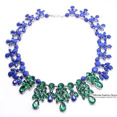 blue and green necklace - Google Search