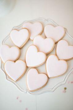 Pink heart cookies...