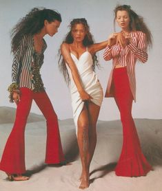 Shalom Harlow, Aya Thorgren & Kate Moss for Versace S/S 1993 Campaign