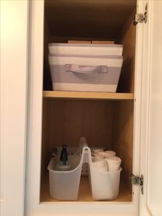 AFTER: Cabinet organization Toilet Paper, Laundry Room, Organization, Cabinet, Table, Furniture, Home Decor, Getting Organized, Clothes Stand