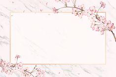 Cherry blossom background frame with hand drawn flowers Cherry Blossom Background, Pink And White Background, Frame Background, Rose Frame, Flower Frame, Adobe Illustrator, Invitation Floral, Wedding Invitation, Powerpoint Background Design