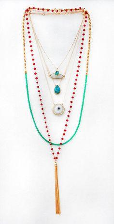 AQUA evil eye necklace | Kei Jewelry