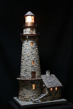 miniature stone lightehouse