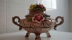 Centrotavola con coperchio e decorazioni di fiori e foglie di GMG1982 su Etsy