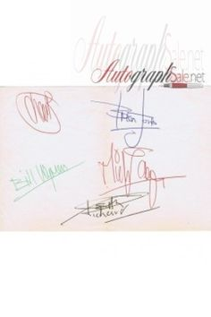 The Rolling Stones full set autographs signed by:   Brian Jones (Blue pen)  Mick Jagger (Red pen)  Keith Richards (Black pen)  Bill Wyman (Green pen)  Charlie Watts (Red pen)  https://autographsale.net/the-rolling-stones-fuly-signed-autographed-page.html