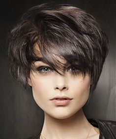 A short black straight hairstyle by Fabio Salsa