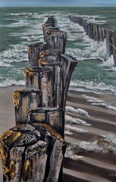 Acrylic 80 x 120 x 4 n. Acrylic 80 x 120 x 4 n. Seascape Paintings, Easy Paintings, Boat Painting, Nautical Art, Pastel Art, Beach Scenes, Beach Art, Painting Inspiration, Watercolor Paintings