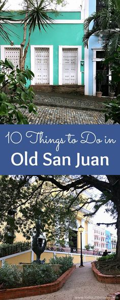 10 fun things to do in Old San Juan! From exploring colorful streets to eating delicious Puerto Rican food, these are the best things to do in Old San Juan. The Places Youll Go, Cool Places To Visit, Places To Travel, Places To Go, Puerto Rico Trip, San Juan Puerto Rico, Caribbean Vacations, Caribbean Cruise, Vacation Destinations