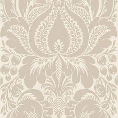 The Wallpaper Company 56 sq.ft. Greige Large Scale Damask Wallpaper