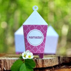 Printable Ramadan Mubarak Lanterns (Plum) in the 2014 Sakina Design Ramadan/Eid Gift Guide