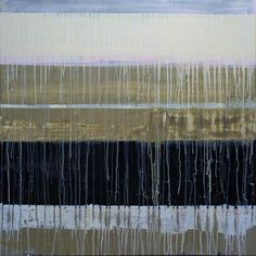 "Ian MacLeod - ""Composition #285"" - 36"" x 36"" -  Acrylic, latex, deck stain, varathane & paper on canvas."