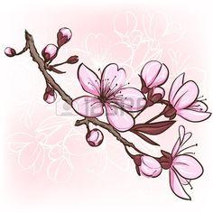 19601562-cherry-blossom-decorative-floral-illustration-of-sakura-flowers.jpg 450×450 pixels