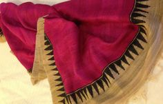 Ghicha tussar silk dupatta. For orders and inquiries, please mail us at naari@aninditacreations.com.  Like our page at www.facebook.com/naari.aninditacreations