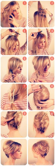 #TBD Chopstick Chignon Tutorial | Awesome! - https://www.facebook.com/different.solutions.page