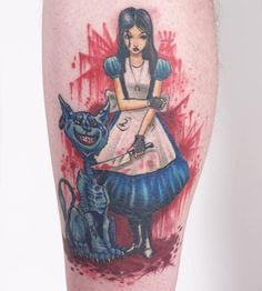 I always suspected Alice of Wonderland was much more like this than the Disney version.   (Alice in Wonderland: Madness Returns tattoo)