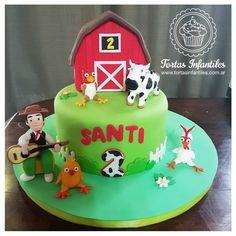 Torta de la Granja de Zenon Farm Birthday Cakes, Farm Animal Birthday, 3rd Birthday Parties, Farm Cake, Chocolate Fondant, Farm Theme, Party Time, New Baby Products, Birthdays